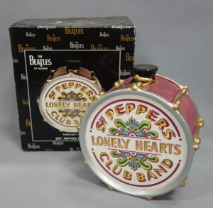 The Beatles Sgt. Peppers Lonely Hearts Club Band Vandor Drum Cookie Jar, New In Box, 1998