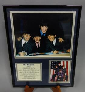 "The Beatles Photo and Discography Framed Display 14"" x 11.5"""