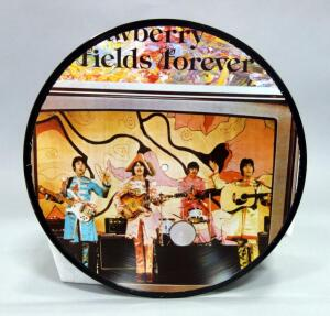 The Beatles Strawberry Fields Forever Picture Disc, Unofficial Release, NM Vinyl