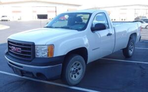 2010 GMC Sierra Two Door Cab Work Pickup Truck, 8' Bed, V6, 4.3L, RWD, 146,488 Miles, VIN # 1GTPCTEX7AZ199249, See Description For More Info And Video