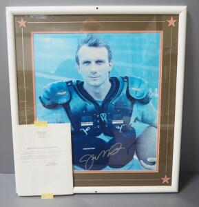 "Joe Montana Autographed Image, With COA, Framed, Double Matted, Under Glass, 25"" Wide x 28"" High"