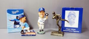 Kansas City Royals Bobbleheads, Includes Tony Pena, Jr. And Carlos Beltran, And Frank White HOF Figurine