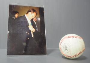 Kansas City Royals Player Signed Ball, Believed To Be 1978 Roster, 25 Signatures, See Description For Some Player Names, And George Brett Photo