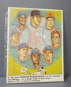 KC Fan 1972 Magazine, Cover Signed By Athletes, Approx 10 Signatures