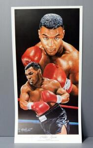 Angelo Marino Boxing Print Of Mike Tyson, Numbered 621/900, Signed By Artist