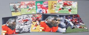 Kansas City Chiefs Autographed Photos, Qty 10, Includes Joe Horn, Derrick Walker (With COA Sticker) Tamba Hali, Dale Carter, Jared Allen And More