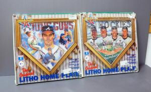 Sportacular Art Litho Home Plates, Includes Colorado Rockies And Atlanta Brave Young Guns