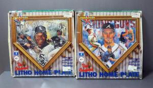 "Sportacular Art Litho Home Plates, Includes Frank Thomas ""The Big Hurt"" And Atlanta Braves Young Guns"