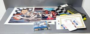 "Nascar Collectibles, Includes Dale Earnhardt Autographed Photo And Daytona 500 Ticket With COA, Robert Stephen Simon ""Born To Fly"" Print, And More"