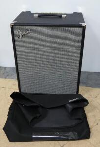 Fender Rumble 200 Bass Amplifier With Cover