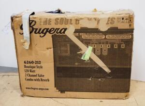 Bugera 2-Channel Tube Guitar Combo Amp, Has Foot Switch, Unit Looks New, But Does Not Power On