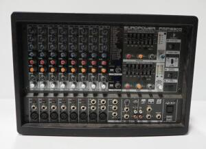 Behringer Europower PMP1680S 1600-Watt 10-Channel Powered Mixer, Powers On