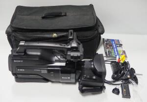 Sony Digital HD Video Camera Model HXR-MC2000N With Cables And Manual In Case