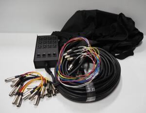 Musicians Gear Audio Snake With Return And Patch Cables, In Carry Bag