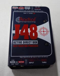 Radial J48 Active Direct Box, 48V Phantom Power