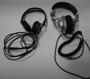 Sony Pro Series Dynamic Stereo Headphones Model MDR-B150 And Audio-Technica Professional Digital Monitor Stereophones Model ATH-PRO5B