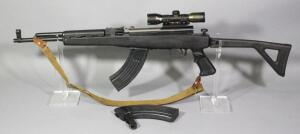 Chinese Norinco SKS 7.62x39 Rifle SN# 21002744P, 2 Total Mags, Folding Stock, Leapers 6x32 Scope And Canvas Sling