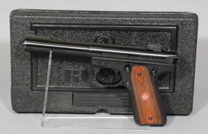 Ruger 22/45 Mark III Target Model .22 LR Pistol SN# 275-41122, 2 Total Mags And Paperwork, In Original Hard Case