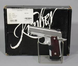 Kimber Micro 380 .380 Auto Pistol SN# P0080441, Grip Laser, 2 Total Mags, Soft Pouch And Paperwork, In Original Box