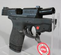Smith & Wesson M&P9 Shield 9mm Luger Pistol SN# JHJ0168, Crimson Trace Laser, 2 Total Mags And Paperwork, In Original Box - 13