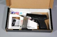 Smith & Wesson M&P9 Shield 9mm Luger Pistol SN# JHJ0168, Crimson Trace Laser, 2 Total Mags And Paperwork, In Original Box - 15