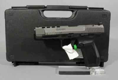Century Arms TP9SFX 9x19mm Pistol SN# T6472-20BC32689, With Holster, 2 Total Mags, Rails, And Extra Grips, In Original Hard Case