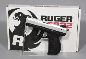 Ruger Model SR22P .22 LR Pistol SN# 367-58528, 3 Total Mags, Extra Grips, And Paperwork, In Original Box