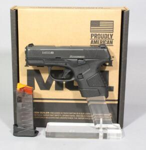 Mossberg MC1SC 9mm Luger Pistol SN# 005498CP, 2 Total Mags And Paperwork, In Original Box