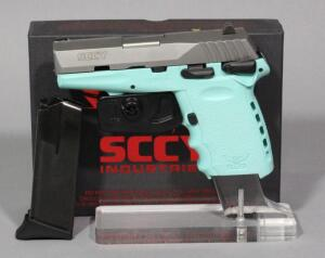 SCCY CPX-1TTSB 9mm Pistol SN# 937770, 2 Total Mags And Paperwork, In Original Box