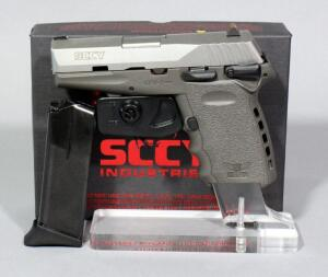 SCCY CPX-1TTSG 9mm Pistol SN# 938167, 2 Total Mags And Paperwork, In Original Box