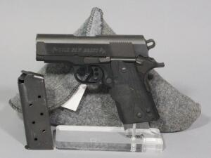 Colt New Agent Lightweight Colt .45 Auto Pistol SN# GT14000, With Grip Activated Laser, In Soft Case