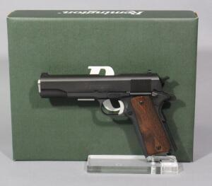 Remington 1911 R1 .45 Auto Pistol SN# RHH033754, Lighlty Fired, 2 Total Mags And Paperwork, In Original Box