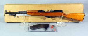 Insterstate Arms SKS 7.62 x 39 Rifle SN# 8074425, Unfired, With Fold Out Bayonet, 2 Total Mags (1 Is 30-Rd NIB), In Box
