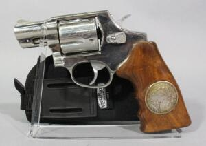 Taurus Model 445 .44 Spl 5-Shot Double Action Revolver SN# QE530500, Grips Have Silver Dollars Embedded, With Uncle Mike's Nylon Holster