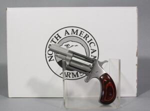 North American Arms Mini-Revolver .22 MAG 5-Shot Revolver SN# E422235, With Paperwork, In Locking Hard Case With Key, And Box