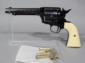 BB Gun Replica Of A Colt Single Action Army 45 .177 Cal BB Gun SN# 15L40852, CO2 Powered, With 6 Pellet Casings