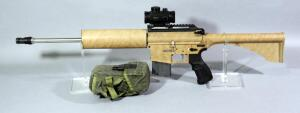 Bushmaster Carbon-15 5.56 Nato Rifle SN# E05484, With 4 Total Mags, BSA Red Dot Scope And Mag Pouch