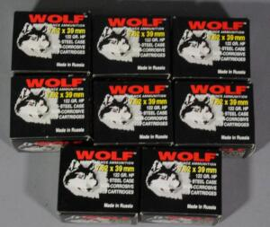 Wolf 7.62x39mm Ammo, Approx 160 Rds, Local Pickup Only