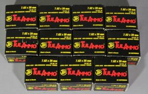 TulAmmo 7.62x39mm Ammo, Approx 220 Rds, Local Pickup Only