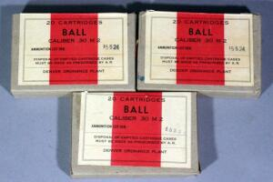 Ball .30 M2 Ammo, Approx 60 Rds, Local Pickup Only