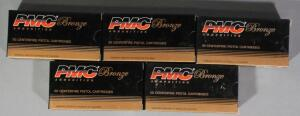 PMC Bronze 9mm Luger Ammo, Approx 250 Rds, Local Pickup Only