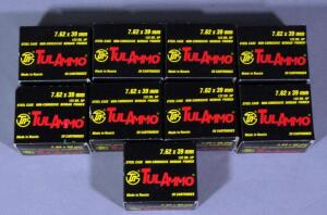 TulAmmo 7.62x39 Ammo, Approx 180 Rds, Local Pickup Only
