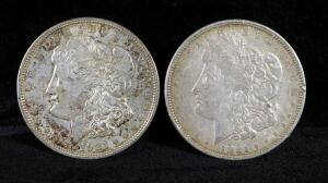 1921 And 1921 D Morgan Silver Dollars