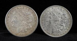 1880 O And 1921 S Morgan Silver Dollars