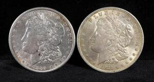 1889 And 1921 Morgan Silver Dollars