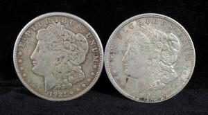 1921 And 1921 S Morgan Silver Dollars