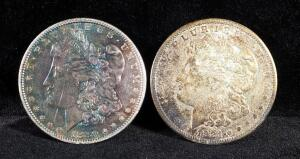 1880 And 1921 S Morgan Silver Dollars