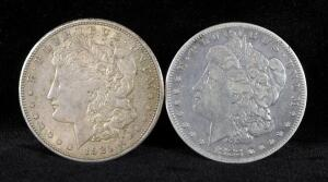 1883 S And 1921 S Morgan Silver Dollars