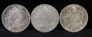 1886, 1921, And 1921 S Morgan Silver Dollars