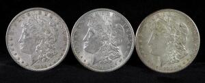 1884, 1921 And 1921 S Morgan Silver Dollars